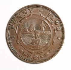 1898 South Africa Penny - Reverse