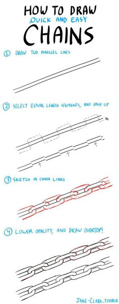 digital art drawing -- chains
