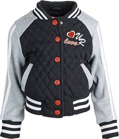 Amazon.com: Urban Republic Baby Girls Jersey Quilted Varsity Jacket Hoodie with Knit Ribbing - Black (24 Months): Clothing Jersey Quilt, Baby Girl Jackets, Cute Baby Clothes, Hoodie Jacket, Hoodies, Sweatshirts, Cute Babies, Men Sweater, Urban