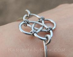 Celtic Knot Bracelet Aluminum Silver Wire by Karismabykarajewelry, $34.00
