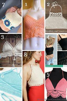 Crochet Shirt Free crochet pattern: Top 8 Crochet Crop Top - This is a list of free crochet pattern for Crochet Crop tops.These are my TOP 8 picks for this summer season. Crochet Bodycon Dresses, Black Crochet Dress, Crochet Lace, Free Crochet, Irish Crochet, Crochet Ideas, Crochet Projects, Crochet Afghans, Easy Crochet