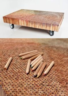 It takes a while, but with 8000 Pencils you get a GREAT coffee Table!