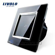 Moderný dotykový vypínač v čiernom prevedení (2) Glass Panels, Led, Phone, Touch, Telephone, Mobile Phones