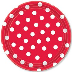 Red Polka Dot Lunch Plates (18)