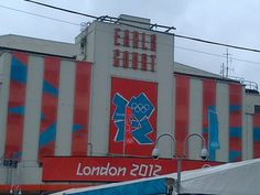 Maybe not the most extraordinary lamp post but an extraordinary venue :) London 2012, Earl's Court.