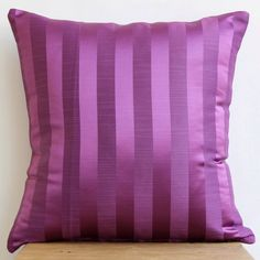 Decorative Throw Pillow Cover Couch Pillows Sofa Pillow Bed Pillow Toss Pillow 16 x 16 Purple Pillow Case Bedding Purple Stripe Home Decor by TheHomeCentric on Etsy https://www.etsy.com/listing/183016309/decorative-throw-pillow-cover-couch