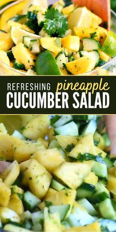 Lime Salad Recipes, Cucumber Recipes, Summer Salad Recipes, Cucumber Salad, Healthy Salad Recipes, Summer Salads, Raw Food Recipes, Lunch Recipes, Chicken Recipes