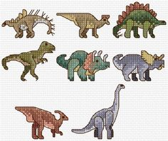 Dinosaurio alfabeto Sampler cruz puntada carta por clairecrompton
