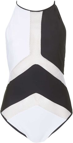 Womens black and white swimsuit from Topshop - £45 at ClothingByColour.com