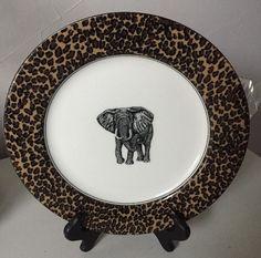 Fitz and Floyd Collectors' Series Serengeti Fine Porcelain Plate #FitzandFloyd