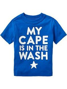 """My Cape Is In The Wash"" Tees for Baby"