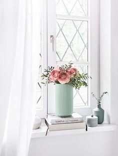 Die Vase The Lyngby Im Frischen Mint Sorgt Fpr Puristischen Und Eleganten  Charme