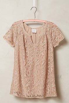 Verga Lace Tee - anthropologie.com #anthrofave