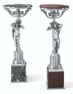 paire de guridons en argent et marbre | other | sotheby's pf1112lot68xlwes