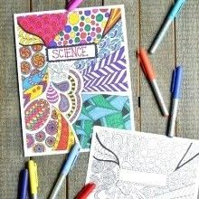 Back in my school days I was quite the doodler. Remember when the phone was attached to a wall and you didn't really have anywhere to go or anything to do so you would just sit a (Diy School Binder) Colouring Pages, Adult Coloring Pages, Coloring Sheets, Coloring Books, Doodle Coloring, Diy Pour La Rentrée, School Book Covers, The Doodler, Diy Back To School