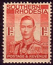 Southern Rhodesia 1937 George VI Head SG 41 Fine Mint Scott 43 Other Southern Rhodesian Stamps HERE