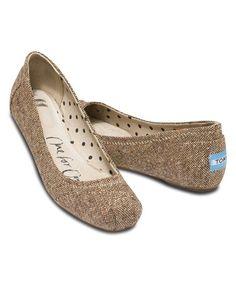 Look at this #zulilyfind! Metallic Tweed Classics Ballet Flat #zulilyfinds