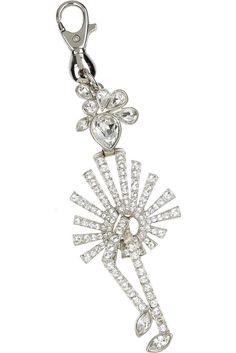 SONIA RYKIEL Crystal-embellished Can-Can Girl Purse Charm Key Ring retail $280! #SoniaRykiel