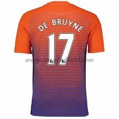 Fodboldtrøjer Premier League Manchester City 2016-17 De Bruyne 17 3. Trøje