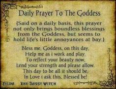 Daily prayer to the goddess