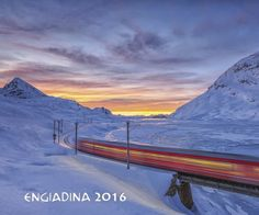 I finally got the photo with the train. This is what I would like to do, the first morning train with a nice sunset coming. After some attempts this is the best shot I can show you for this beautiful mountain subject, an icon for the Switzerland. Bernina Express, The Mont, Frames On Wall, Alps, Rocky Mountains, Switzerland, Images, Clouds, Train