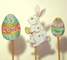 Easter paper puppets