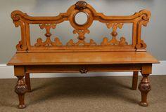 Victorian Oak Hall Bench - Antiques Atlas