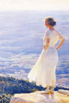 Sunlit Valley (Charles Courtney Curran - 1920)