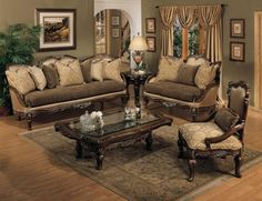 Traditional Living Room Furniture | Traditional Classic Sofa sets ...