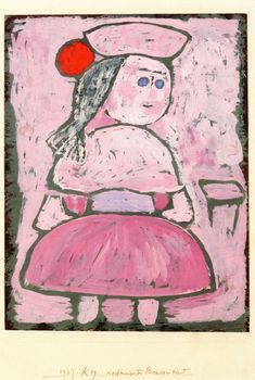 The Athenaeum - Costumed Peasant Girl (Paul Klee - )