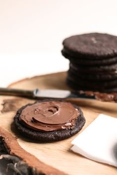 Salted Dark Chocolate Nutella Cookies via The Faux Martha #nutella #recipe