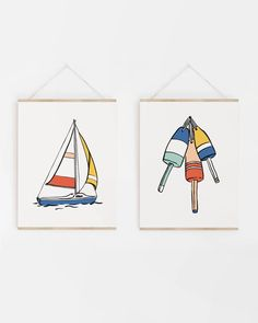 Whether you need something for a kids area or want to add a punch of color to your living space, these nautical buoy prints will liven up any space! Colorful Artwork, Kids Artwork, Nautical Art, Nautical Nursery, Kids Prints, Art Prints, Sea Birds, Color Splash, Punch