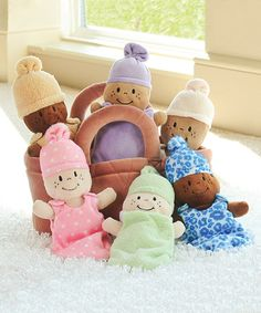 Love this Basket of Babies on #zulily! #zulilyfinds What a great set for a multi-racial family