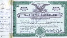 11/12/1957 Disney stock is first listed on the New York Stock Exchange.  Antique Disney stock certificate signed by Walt Disney was for sale in 2010 for 75,000 dollars.