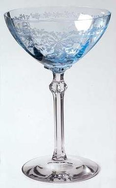 Fostoria June Blue Champagne Sherbet Glass 147615 | eBay