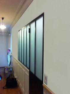 Bathroom - Verrières-d'intérieur - Ghislain Curtains, Architecture, Buffet, French, Home Decor, Taupe Bathroom, Atelier, Home Ideas, Arquitetura
