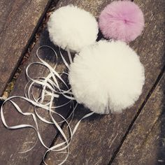 Pompon set. Sweet and fluffy. Great for kidsroom decoration.