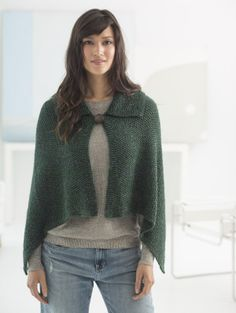 Loom Knit Collared Wrap - Free Pattern