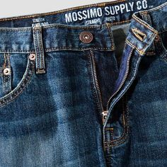 Men's Jeans Light Vintage Stone Wash 31x30 - Mossimo Supply Co., Blue