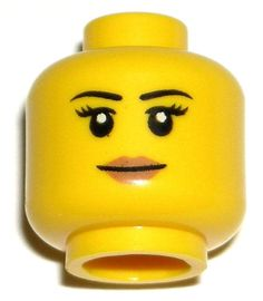 LEGO NEW FEMALE HEAD Girl Woman Peach Lips Smile Thin Eyebrows Minifigure Figure #LEGO