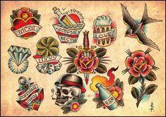 - Old School Old School Tattoo Designs, Heart Tattoo Designs, Body Art Tattoos, Sleeve Tattoos, American Style Tattoo, Arm Sleeve, Berg Tattoo, Americana Tattoo, Old School Ink