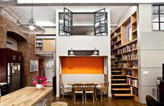 Lofts are a great idea for small homes, maximizing your space and separating thus the bedroom from the living-room spaces. Description from homesthetics.net. I searched for this on bing.com/images