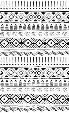 Native American Hand Drawn Pattern