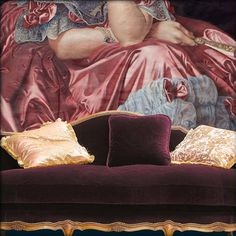 Copy of a painting by Ingres for Moissonnier booth detail Hand Painted Ornaments, Fine Art, Murals, Creative, Painting, Detail, Decor, Decoration, Wall Paintings