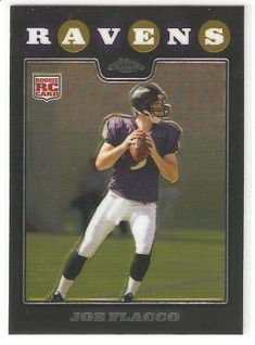 2008 Topps Chrome Joe Flacco (RC) - Baltimore Ravens - Football Rookie Card - NFL Football Trading Card  https://allstarsportsfan.com/product/2008-topps-chrome-joe-flacco-rc-baltimore-ravens-football-rookie-card-nfl-football-trading-card/  2008 Topps Chrome Joe Flacco (RC) – Baltimore Ravens – Football Rookie Card! Card is shipped in a protective screw down case to preserve its MINT condition! This is just one of the 1000s of great single sports cards we are offer