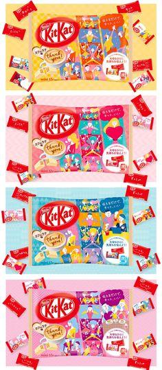 KIT KAT Mini Cafe Latte Chocolate 12pcs - Made and Available Only in Japan - TAKASKI.COM Japanese Kit Kat, Japanese Sake, Japanese Sweets, Japanese Food, Strawberry Tiramisu, Strawberry Cheesecake, Kit Kat Cookies, Matcha Kit Kat, Mini Cafe