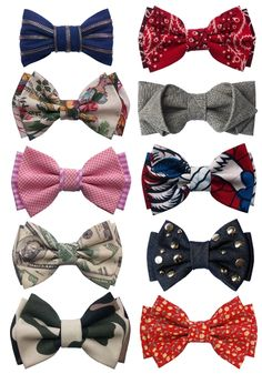 If you are going to Bow tie, have some flavor...http://www.individualism.co.uk/2012/03/pinspiration-week-4/