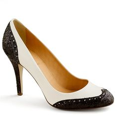 Ok, so my parents are in love with fashion from the 40's and 50's. When I was little they bought me some black and white oxfords, but that was in '86 or so..it was not cool then. I cried when I wore them. But now, I wish I could have a pair of pumps like these!!!