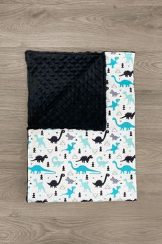 Unicorn Minky and Turquoise Lattice Minky Backing and Adult Sized Blanket by The Handmade Heifer Youth Baby