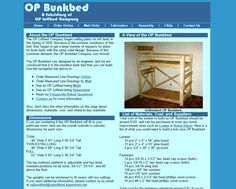 Screenshot of the Original OP Bunkbed Website in February, 2001.